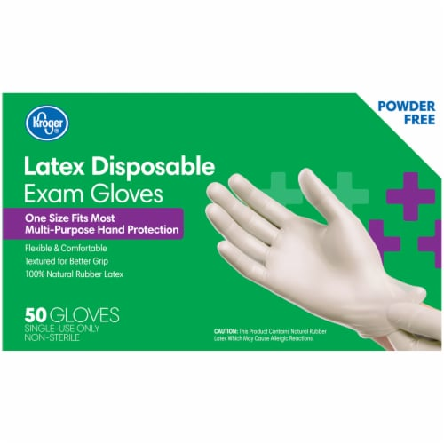 Kroger® Powder-Free Latex Disposable Exam Gloves Perspective: back