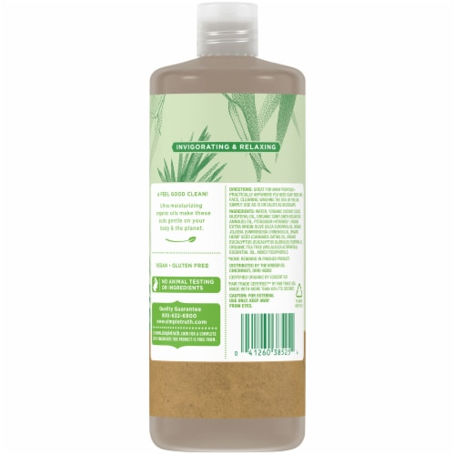 Simple Truth® Tea Tree Eucalyptus Pure Castile Soap Perspective: back