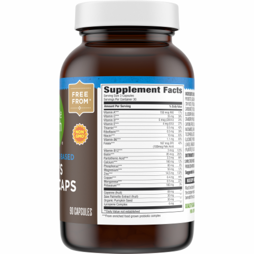 Simple Truth™ Men's Whole Food Based Multi Caps Bottle Perspective: back