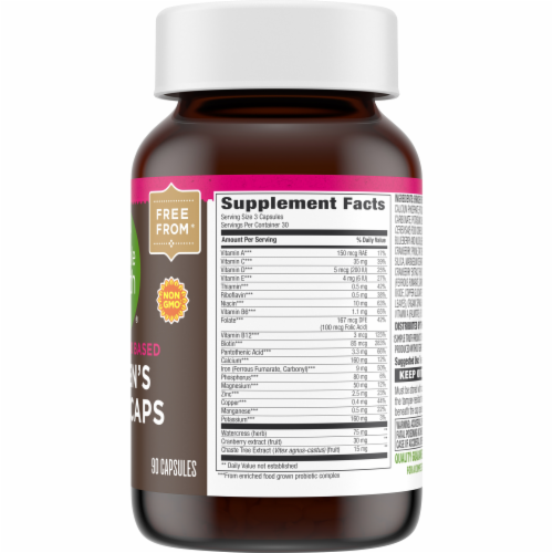 Simple Truth™ Women's Whole Food Based Multi Capsules Perspective: back