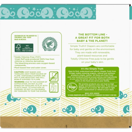 Simple Truth™ Chlorine Free Size 3 Baby Diapers Perspective: back