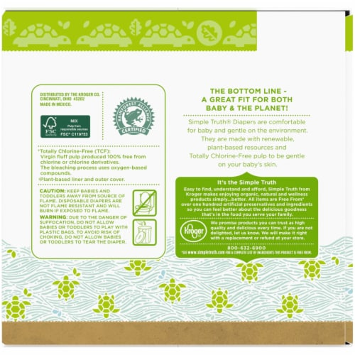 Simple Truth® Chlorine Free  Size 4 Baby Diapers Perspective: back