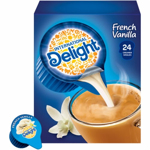 International Delight French Vanilla Coffee Creamer Singles Perspective: back