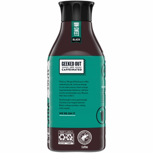 Stok Un-Sweet Black Cold Brew Iced Coffee Perspective: back