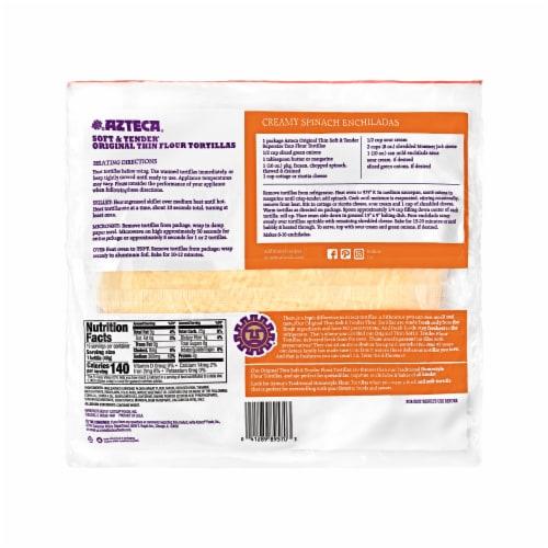 Azteca® Original Thin Supersize Taco Flour Tortillas Perspective: back