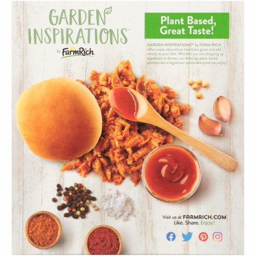 Farm Rich Garden Inspirations Plant Based BBQ Veggie Sliders 6 Count Perspective: back