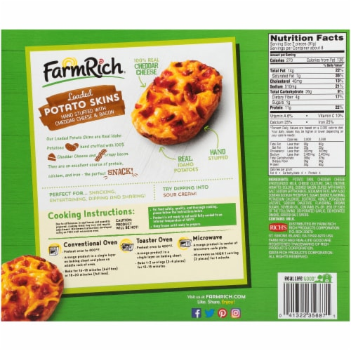 Farm Rich® Loaded Potato Skins Party Size Perspective: back