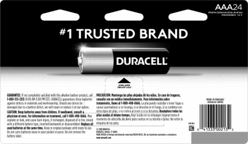 Duracell AAA Alkaline Batteries Perspective: back