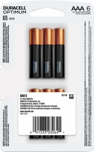 Duracell Optimum AAA Alkaline Batteries Perspective: back