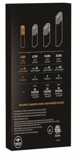 Duracell Rechargable Powerbank Perspective: back