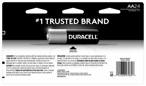 Duracell AA Alkaline Batteries Perspective: back