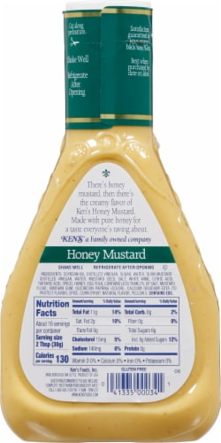 Ken's Steak House Honey Mustard Dressing Perspective: back