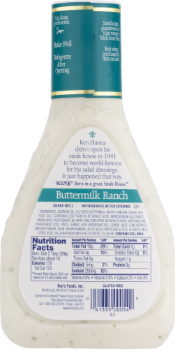 Ken's Steak House Buttermilk Ranch Dressing Perspective: back
