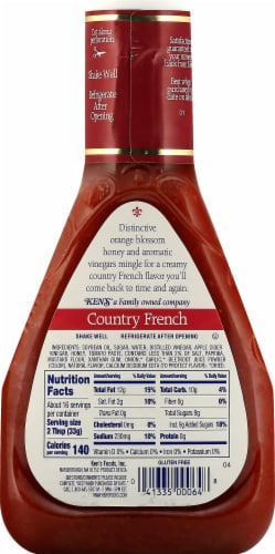 Ken's Steak House Country French Dressing Perspective: back