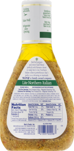 Ken's Steak House Lite Northern Italian Dressing & Marinade With Basil & Romano Perspective: back