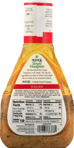 Ken's Steak House Simply Vinaigrette Italian Dressing Perspective: back