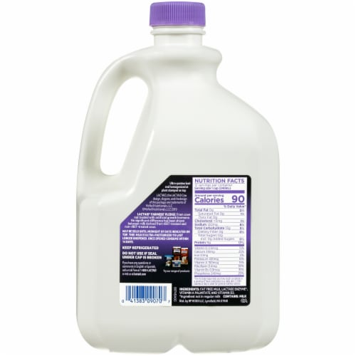 Lactaid 100% Lactose Free Fat Free Milk Perspective: back