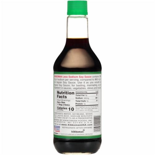 Kikkoman Low Sodium Soy Sauce Perspective: back