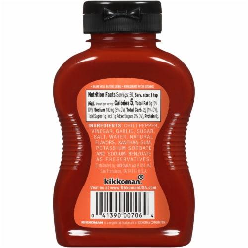 Kikkoman Sriracha Hot Chili Sauce Perspective: back