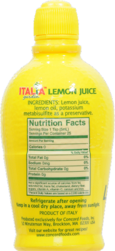 Italia Lemon Juice Perspective: back