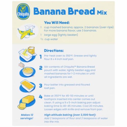 Chiquita Banana Bread Mix Perspective: back