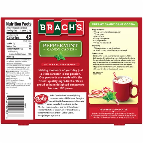 Brach's® Peppermint Candy Canes Perspective: back