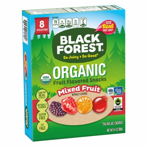 Black Forest Organic Mixed Fruit Flavored Snacks 8 Count Perspective: back