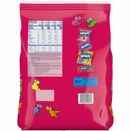 Nerds® Mixed Candy Party Size Variety Bag Perspective: back