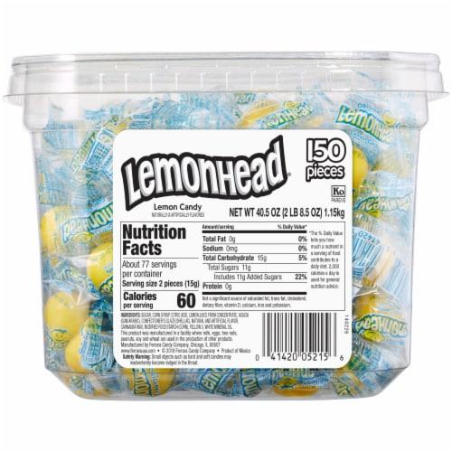 Lemonhead Lemon Candy Tub Perspective: back