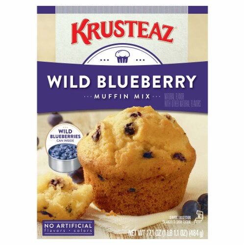Krusteaz Wild Blueberry Muffin Mix Perspective: back