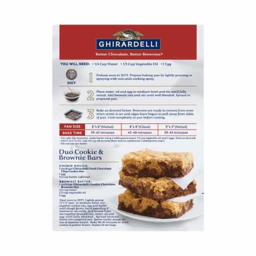 Ghirardelli Double Chocolate Premium Brownie Mix Perspective: back