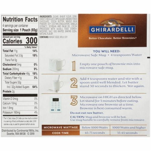 Ghirardelli Dark Chocolate Premium Brownie Mix Perspective: back