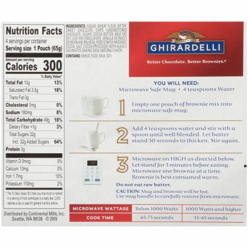 Ghirardelli® Double Chocolate Premium Brownie Mug Mix Perspective: back