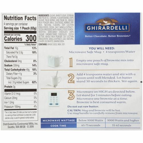 Ghirardelli® Salted Caramel Premium Brownie Mug Mix Perspective: back