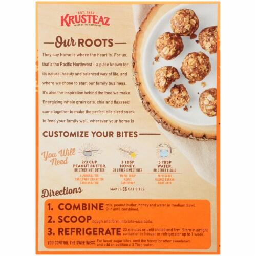 Krusteaz Cinnamon Oat Energizing Oat Bites Perspective: back