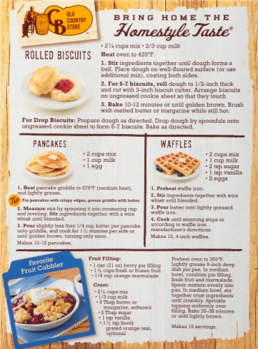 Cracker Barrel Old Country Store Buttermilk Baking & Pancake Mix Perspective: back