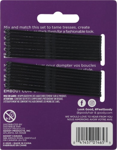 Goody® Black Bobby Pins Perspective: back