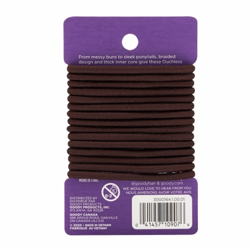 Goody Ouchless Brown Elastics Perspective: back