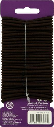 Goody Ouchless Chocolate Cake Medium Hair Elastics Perspective: back