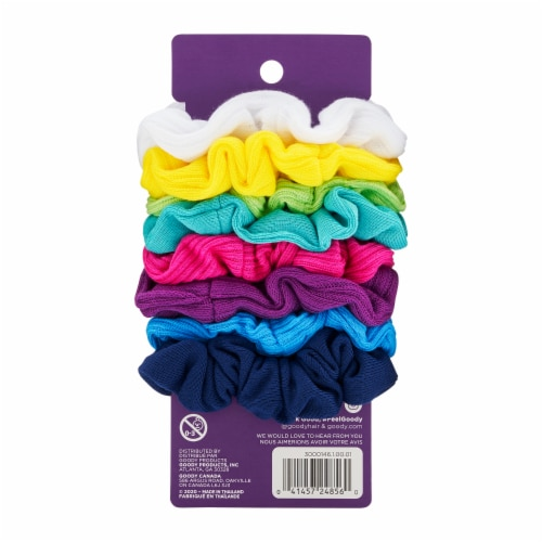Goody Neon Jersey Scrunchies Perspective: back