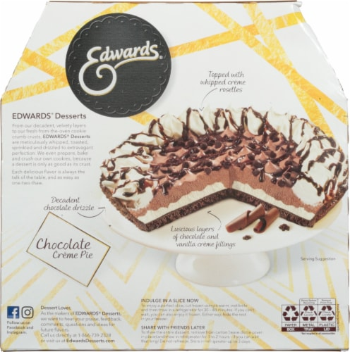 Edwards® Chocolate Creme Pie with Cookie Crust Perspective: back