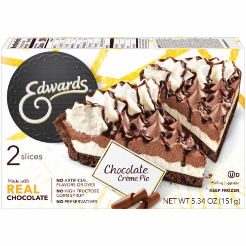 Edwards® Chocolate Creme Pie Singles Perspective: back