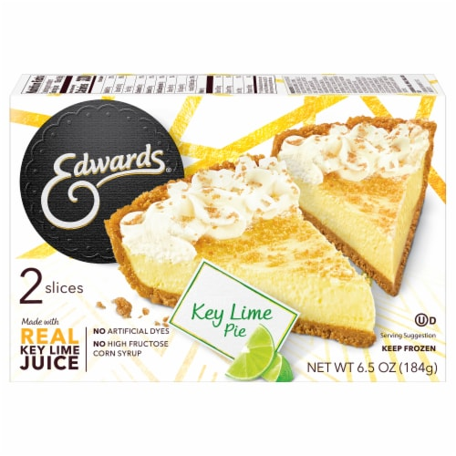 Edwards Key Lime Pie Slices Perspective: back