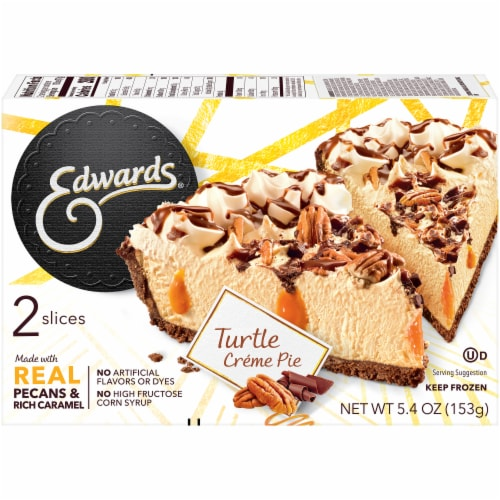 Edwards Turtle Creme Pie Slices 2 Count Perspective: back