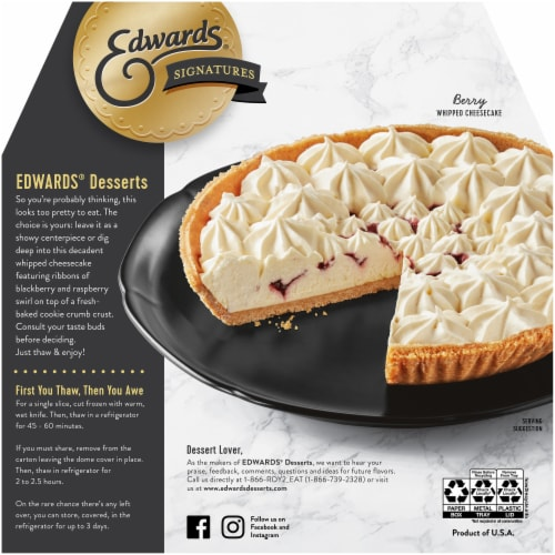 Edwards® Signatures Berry Whipped Cheesecake Perspective: back