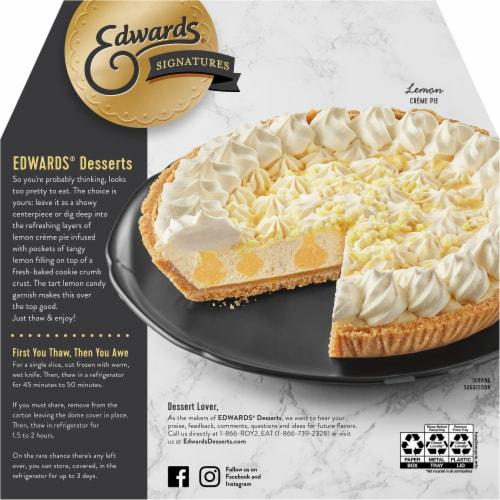 Edwards® Signature Creme Desserts Lemon Creme Pie Perspective: back