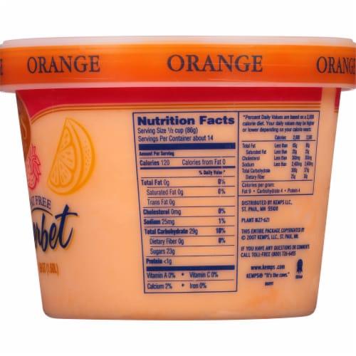 Kemps Fat Free Orange Sherbet Perspective: back