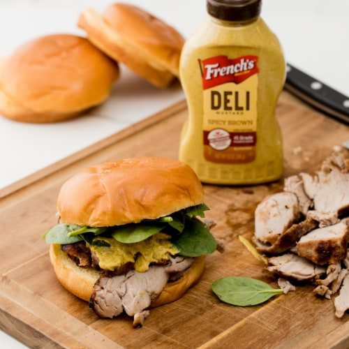 French's Spicy Brown Mustard Perspective: back