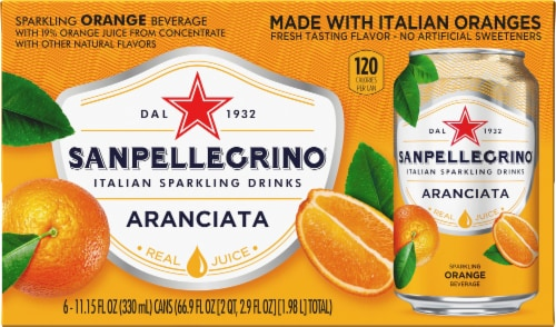 S. Pellegrino Aranciata Sparkling Orange Beverage Perspective: back