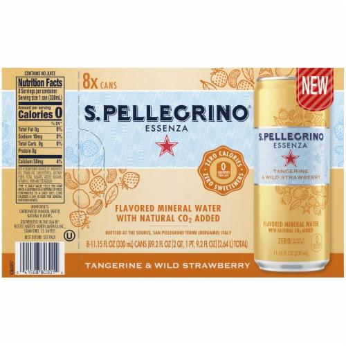 S. Pellegrino Essenza Tangerine & Wild Strawberry Flavored Mineral Water Perspective: back